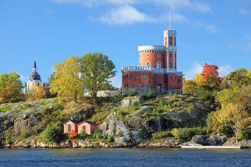 Το μικρές Castle και εκκλησία της Catherine στη Στοκχόλμη, Σουηδία στοκ εικόνες