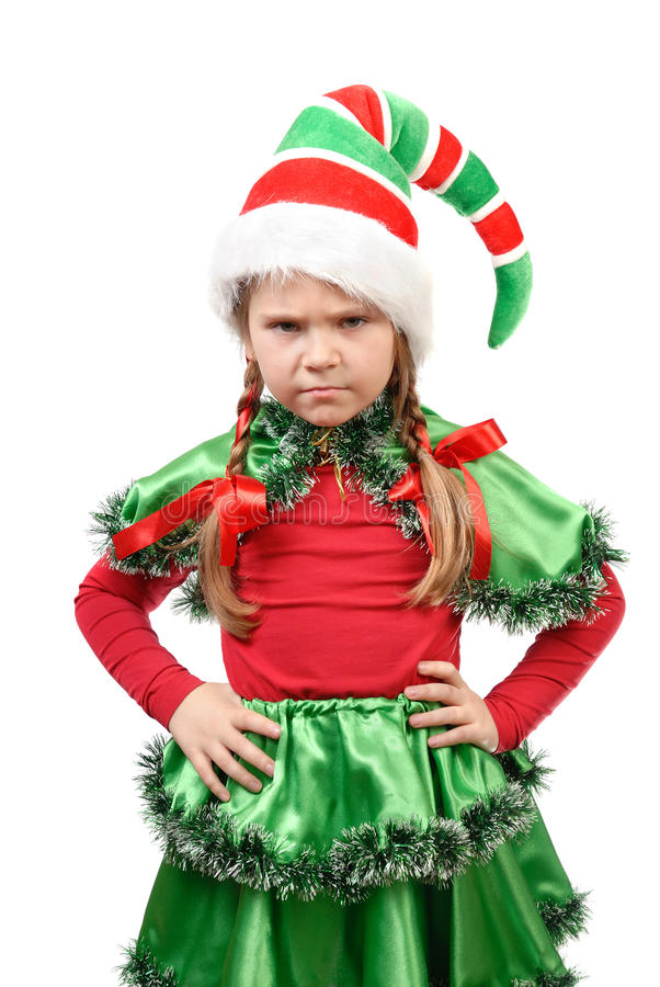 Το μικρό κορίτσι - νεράιδα Santa. στοκ εικόνες