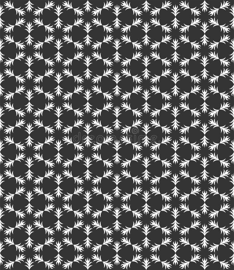 Το μικρό μοτίβο επανέλαβε τη διανυσματική απεικόνιση σχεδίων φύλλων στο μαύρο μόριο ν απεικόνιση αποθεμάτων