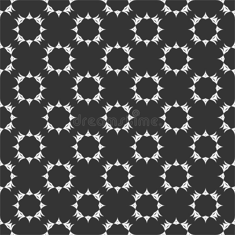 Το μικρό μοτίβο επαναλαμβανόμενο περιβάλλει τη διανυσματική απεικόνιση σχεδίων στο μαύρο μόριο ν διανυσματική απεικόνιση