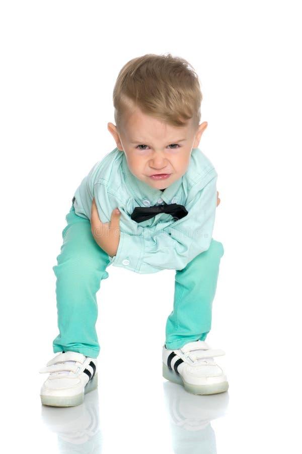 Το μικρό παιδί κυματίζει συναισθηματικά τα όπλα του στοκ φωτογραφία με δικαίωμα ελεύθερης χρήσης