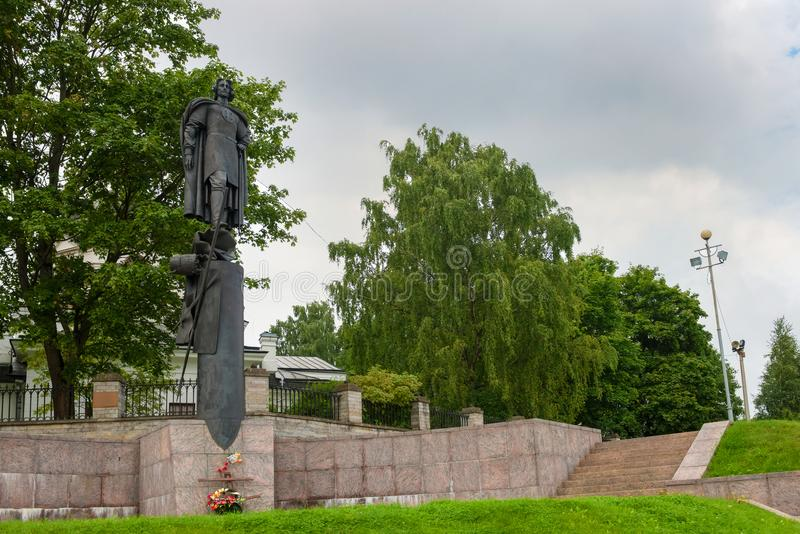 Το μνημείο επί του τόπου της μάχης Neva στοκ εικόνα με δικαίωμα ελεύθερης χρήσης