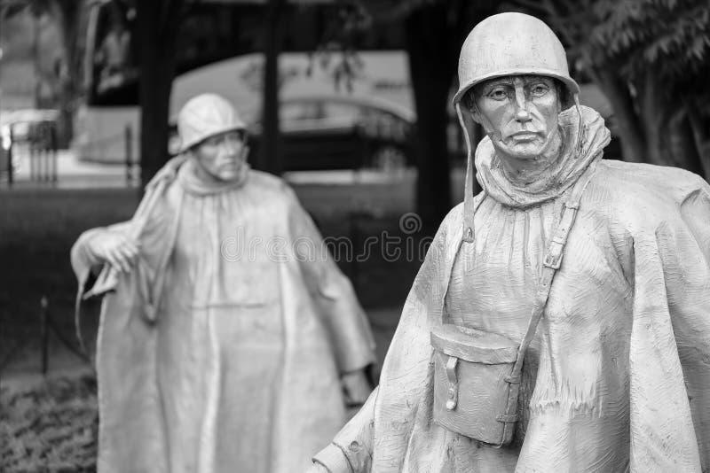 Το μνημείο παλαιμάχων Πολέμων της Κορέας στην Ουάσιγκτον Δ Γ στοκ φωτογραφία με δικαίωμα ελεύθερης χρήσης