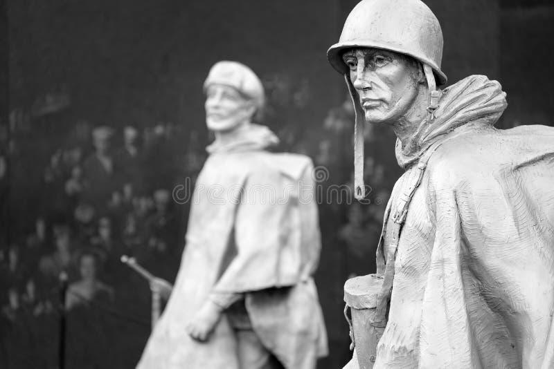 Το μνημείο παλαιμάχων Πολέμων της Κορέας στην Ουάσιγκτον Δ Γ στοκ εικόνα με δικαίωμα ελεύθερης χρήσης