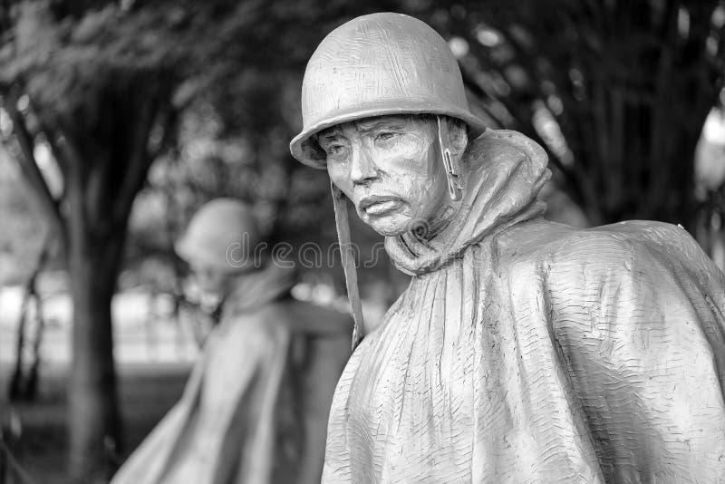 Το μνημείο παλαιμάχων Πολέμων της Κορέας στην Ουάσιγκτον Δ Γ στοκ εικόνα