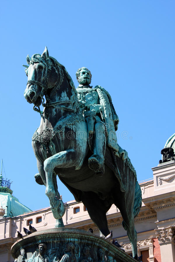 Το μνημείο που αφιερώνεται στον πρίγκηπα Mihailo Obrenovic στοκ φωτογραφία με δικαίωμα ελεύθερης χρήσης