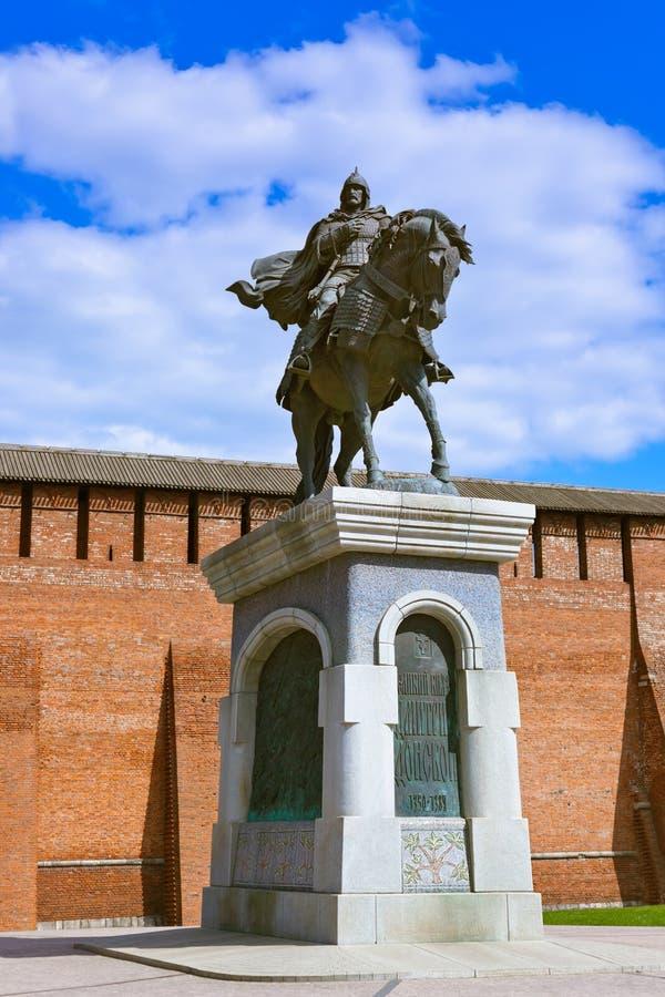 Το μνημείο σε Dmitry Donskoy σε Kolomna Κρεμλίνο στο regi της Μόσχας στοκ φωτογραφίες με δικαίωμα ελεύθερης χρήσης