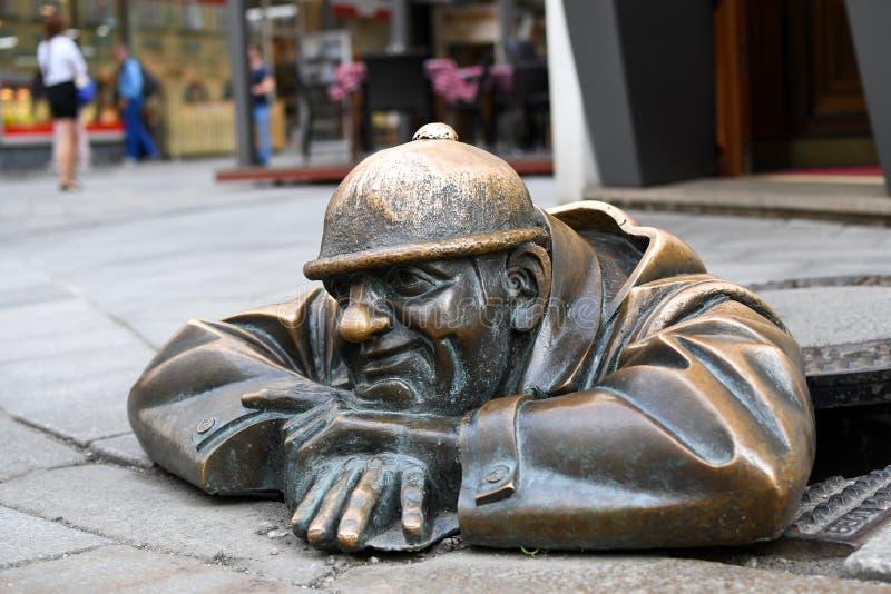 Το μνημείο στη Μπρατισλάβα στοκ φωτογραφία
