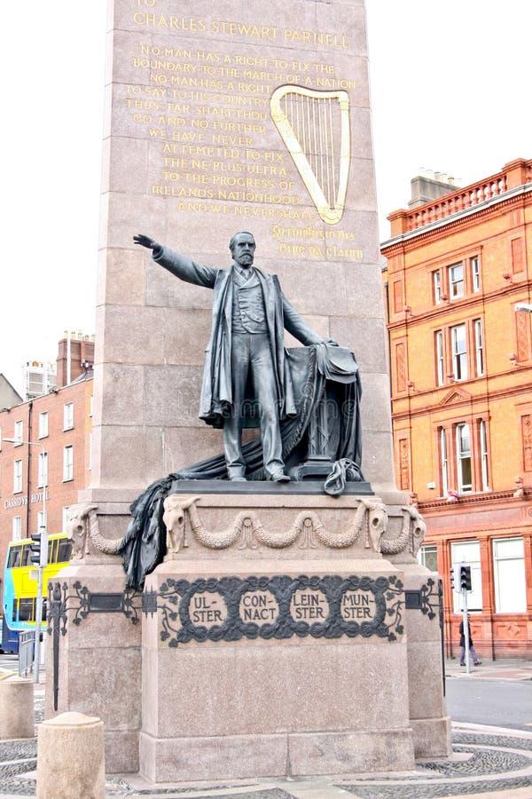 Το μνημείο της Parnell στο βόρειο τέλος της οδού Ο Connell, Δουβλίνο, Ιρλανδία στοκ εικόνες με δικαίωμα ελεύθερης χρήσης