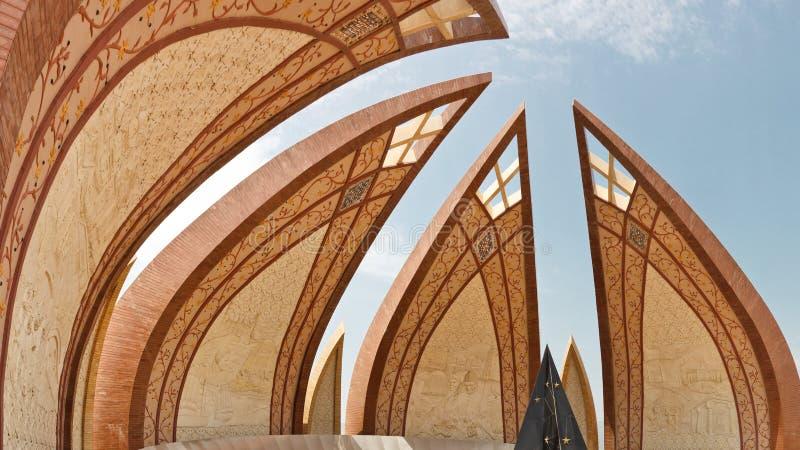 Το μνημείο του Πακιστάν, Ισλαμαμπάντ στοκ φωτογραφίες με δικαίωμα ελεύθερης χρήσης