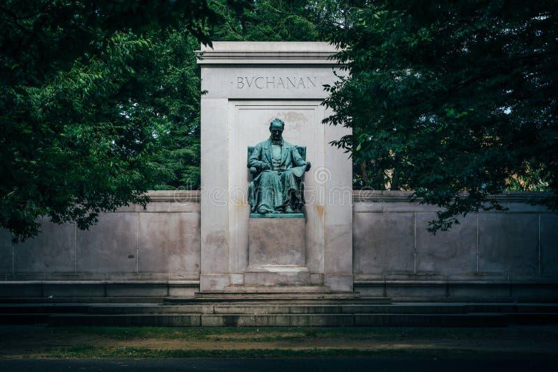 Το μνημείο του James Buchanan στο μεσημβρινό πάρκο Hill, στην Ουάσιγκτον, συνεχές ρεύμα στοκ φωτογραφίες με δικαίωμα ελεύθερης χρήσης