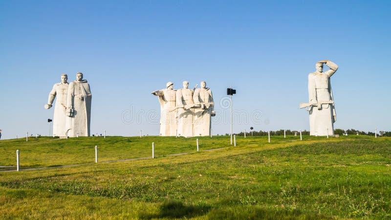 Το μνημείο των λαμπρών ηρώων του τμήματος Panfilov, νικημένοι φασίστες στη Μόσχα μάχεται, Dubosekovo, περιοχή της Μόσχας, της Ρωσ στοκ εικόνα με δικαίωμα ελεύθερης χρήσης