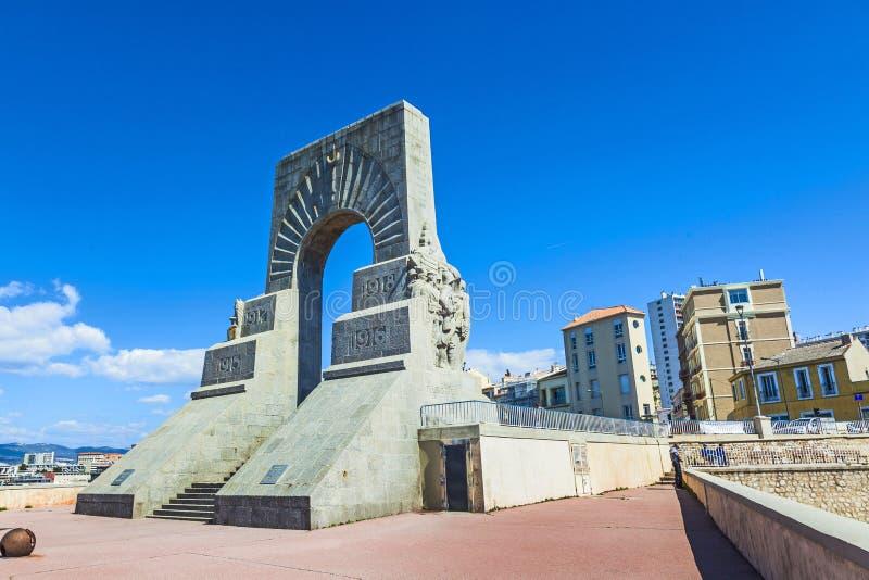Το μνημείο aux Mort στη Μασσαλία στοκ εικόνα
