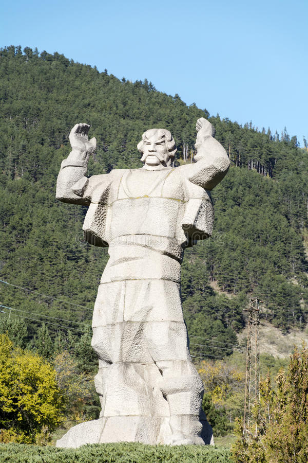 Το μνημείο Borimechkata σε Klisura, Βουλγαρία στοκ εικόνες