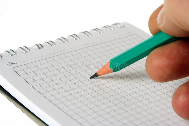 το μολύβι σημειωματάριων &a στοκ εικόνα με δικαίωμα ελεύθερης χρήσης