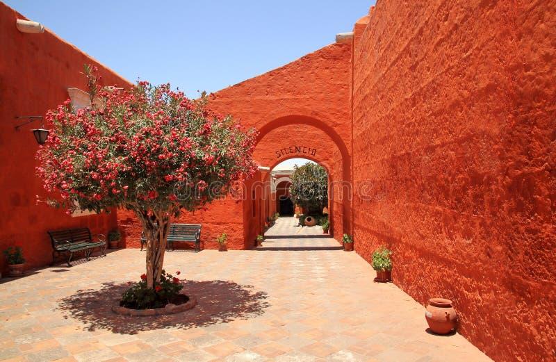 Το μοναστήρι Αγίου Catherine (Santa Catalina), Arequipa, Περού στοκ φωτογραφία