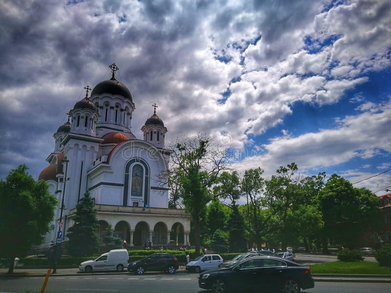 Το μοναστήρι, εκκλησία Casin bucharest romania στοκ εικόνες