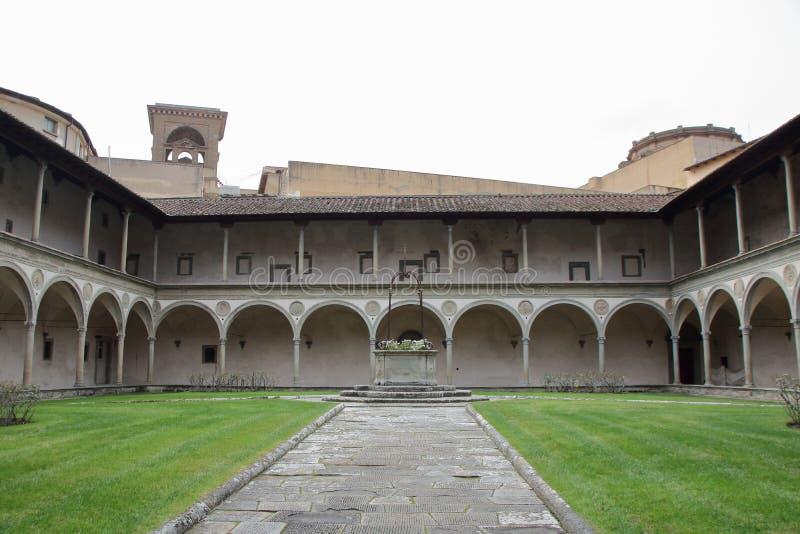 Το μοναστήρι Santa Croce στοκ εικόνα