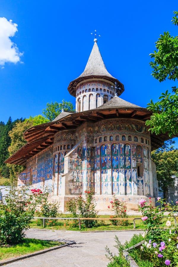 Το μοναστήρι Voronet, Ρουμανία στοκ φωτογραφία