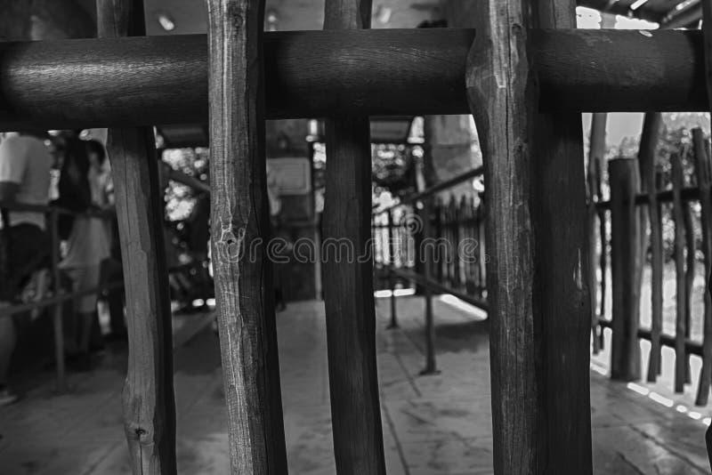 Το μονοχρωματικό μέρος ενός ξύλινου fance με το υπόβαθρο στοκ φωτογραφία με δικαίωμα ελεύθερης χρήσης