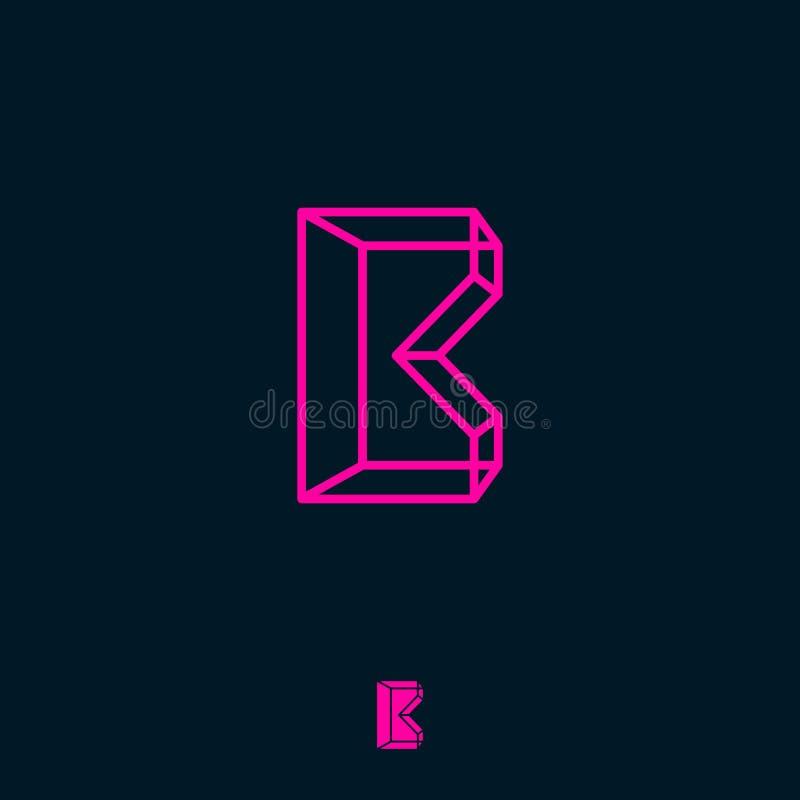 Το μονόγραμμα Β, κιβώτιο, χτίζει το λογότυπο Επιστολή κιβωτίων Β τρισδιάστατο μονόγραμμα Λογότυπο όγκου και κατασκευής ελεύθερη απεικόνιση δικαιώματος