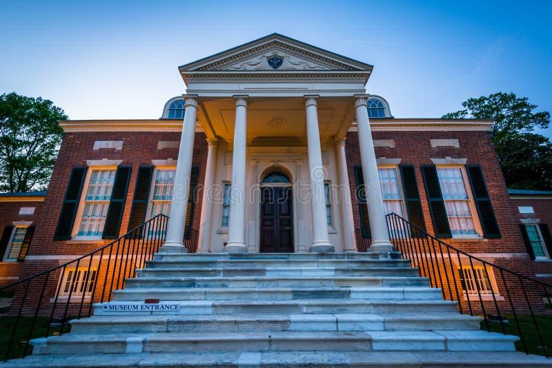 Το μουσείο Homewood στο πανεπιστήμιο Johns Hopkins, στη Βαλτιμόρη, Μ στοκ φωτογραφία με δικαίωμα ελεύθερης χρήσης