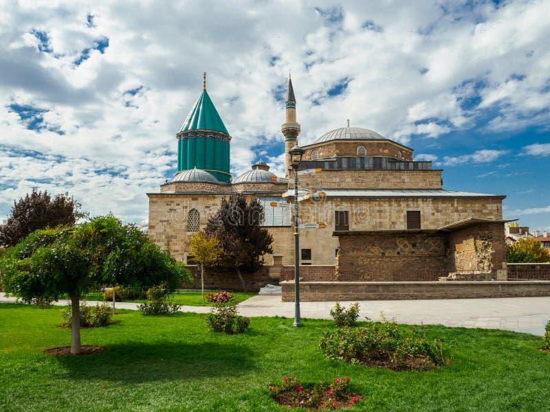 Το μουσείο Mevlana στην πόλη Konya, Τουρκία στοκ εικόνες