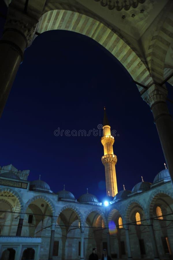 Το μουσουλμανικό τέμενος Sleiman κάτω από τον έναστρο ουρανό στοκ φωτογραφίες