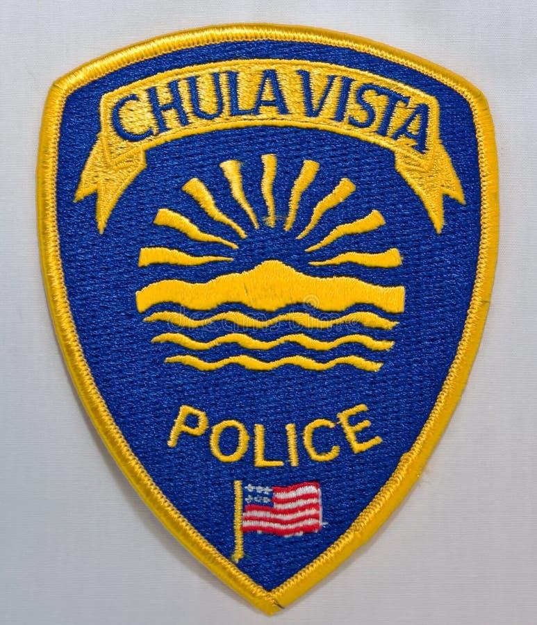 Το μπάλωμα ώμων της Vista Chula Αστυνομίας σε Καλιφόρνια στοκ εικόνα με δικαίωμα ελεύθερης χρήσης