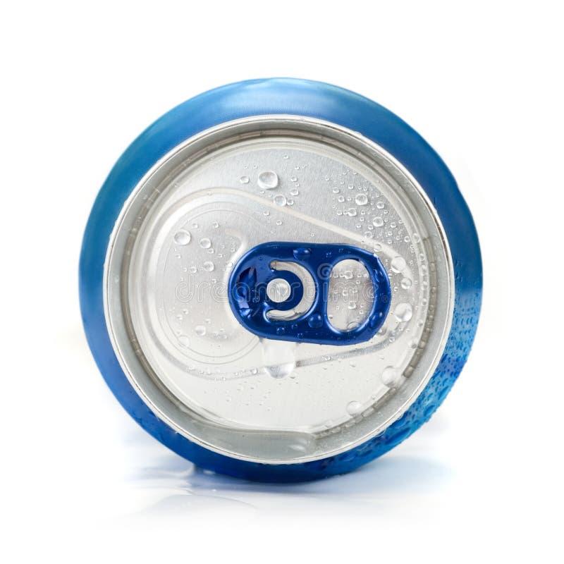 Το μπλε αργίλιο μπορεί στοκ φωτογραφία