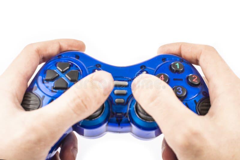 Το μπλε πηδάλιο διαθέσιμο απομονώνει στοκ εικόνες με δικαίωμα ελεύθερης χρήσης
