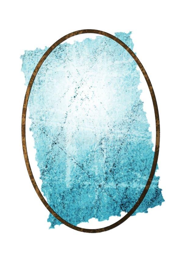 Το μπλε τσαλάκωσε και γρατσούνισε το παλαιό έγγραφο διανυσματική απεικόνιση