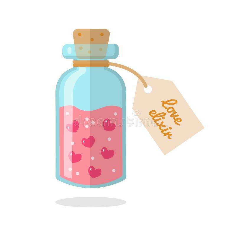 Το μπουκάλι με το ελιξίριο της αγάπης ελεύθερη απεικόνιση δικαιώματος