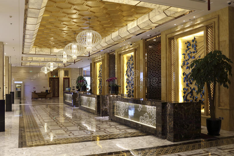 Το μπροστινό γραφείο του ξενοδοχείου στοκ φωτογραφία με δικαίωμα ελεύθερης χρήσης