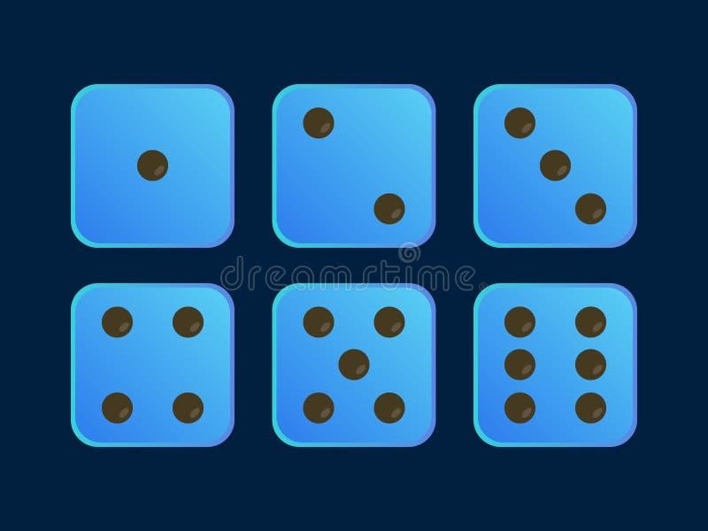 Το μπλε χρώμα χωρίζει σε τετράγωνα για το παιχνίδι ελεύθερη απεικόνιση δικαιώματος