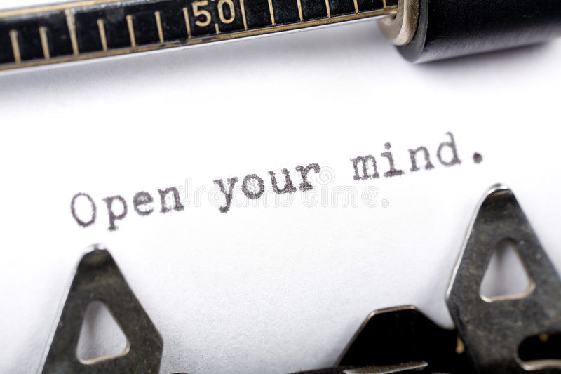 το μυαλό ανοίγει το σας στοκ εικόνα