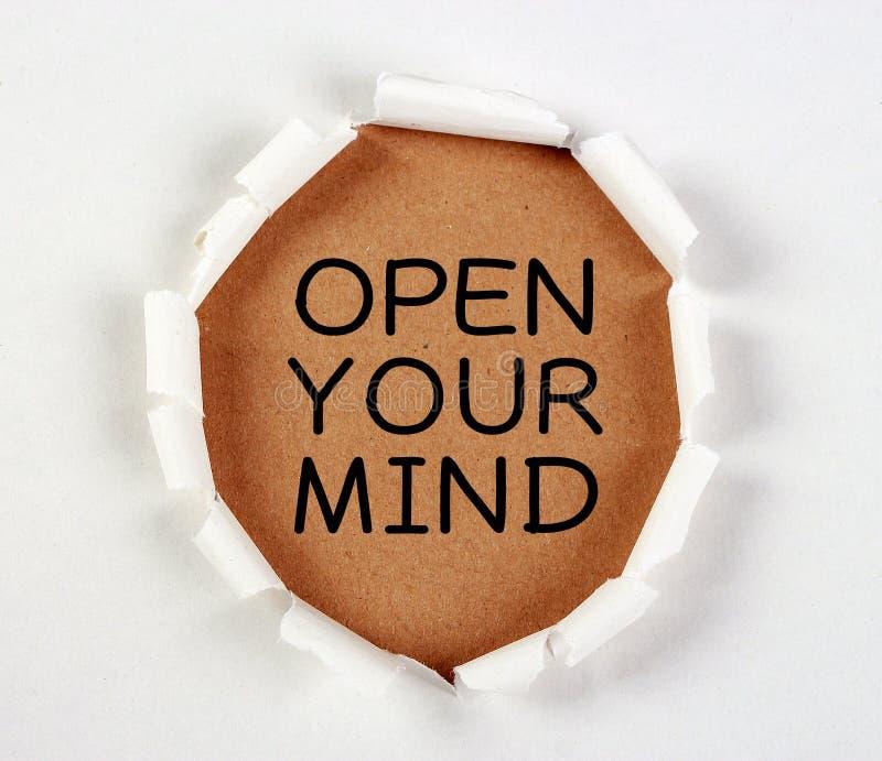 το μυαλό ανοίγει το σας στοκ φωτογραφία