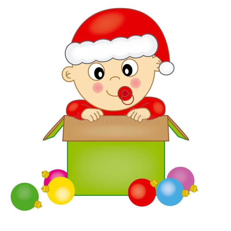 Το μωρό έντυσε ως Άγιος Βασίλης ελεύθερη απεικόνιση δικαιώματος