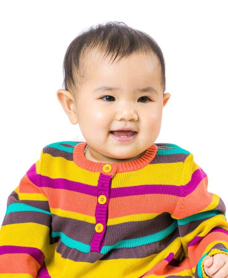 Το μωρό αισθάνεται ευτυχές στοκ φωτογραφία