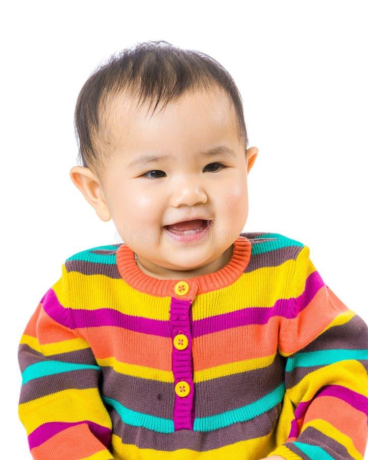 Το μωρό αισθάνεται ευτυχές στοκ εικόνα με δικαίωμα ελεύθερης χρήσης
