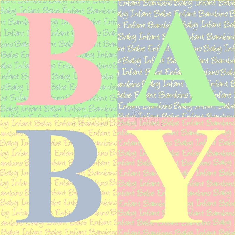 το μωρό εμποδίζει την κάρτα διανυσματική απεικόνιση