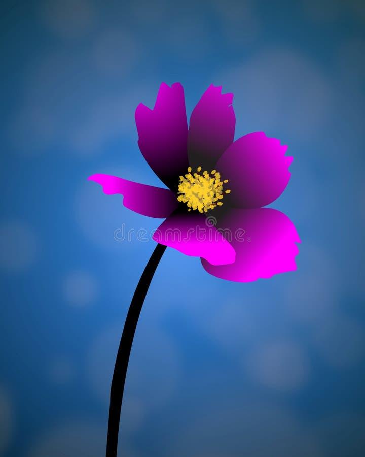 Το μόνο λουλούδι στοκ φωτογραφίες