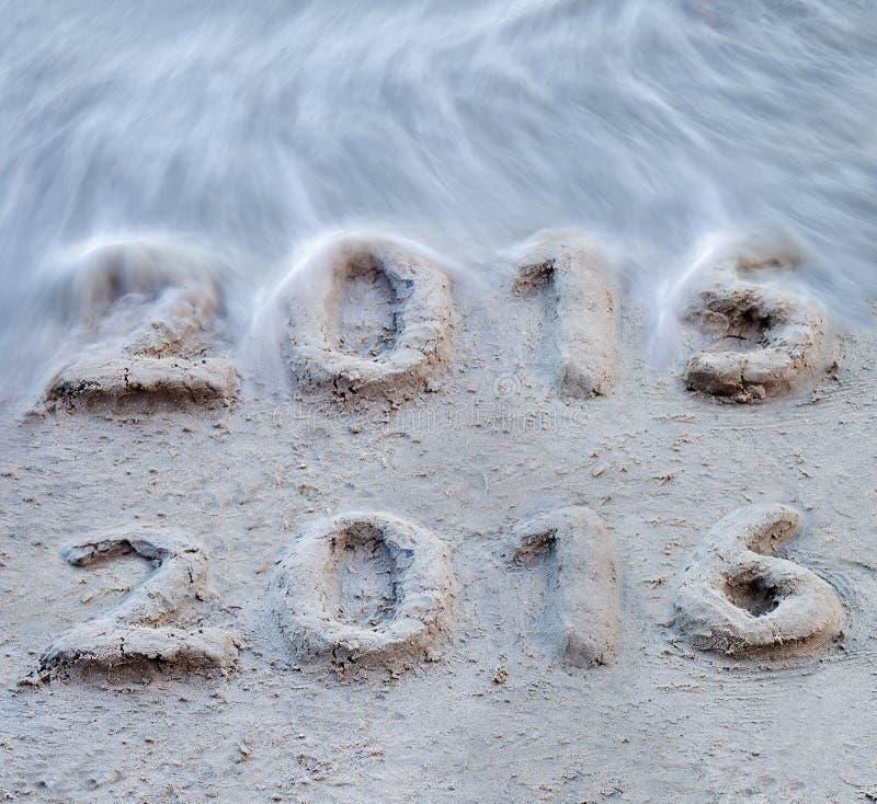 Το νέο έτος 2016 έρχεται στοκ εικόνα