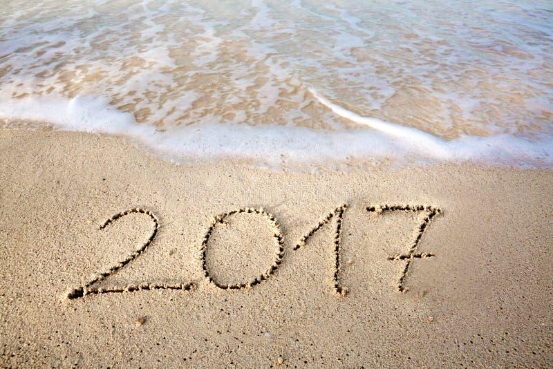 Το νέο έτος 2017 είναι ερχόμενη έννοια στοκ φωτογραφίες