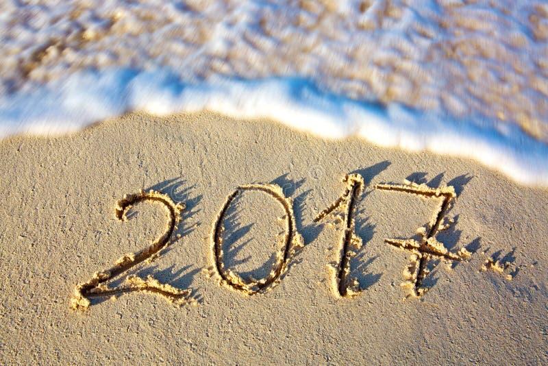 Το νέο έτος 2017 είναι ερχόμενη έννοια στοκ φωτογραφία με δικαίωμα ελεύθερης χρήσης