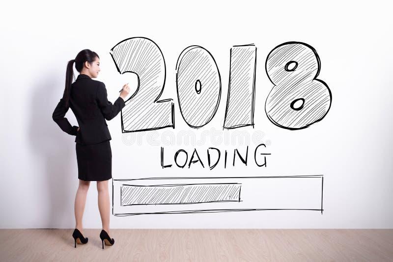 Το νέο έτος φορτώνει τώρα στοκ φωτογραφία με δικαίωμα ελεύθερης χρήσης