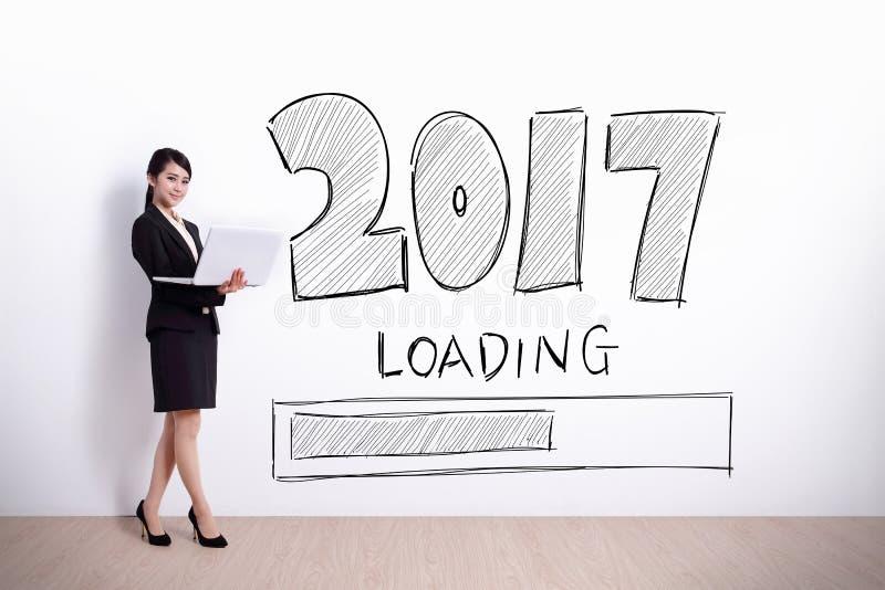 Το νέο έτος φορτώνει τώρα στοκ εικόνες