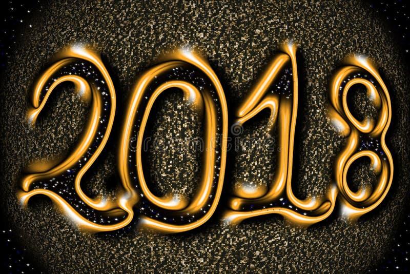 το νέο έτος 2018 στοκ φωτογραφία με δικαίωμα ελεύθερης χρήσης
