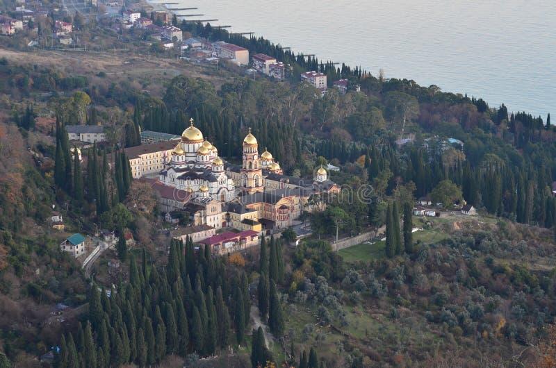 Το νέο μοναστήρι Athos στοκ φωτογραφία με δικαίωμα ελεύθερης χρήσης