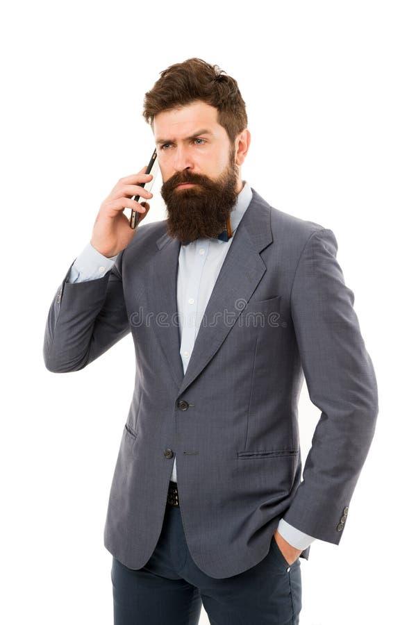 Το νέο τελειομανές άτομο μιλά στο τηλέφωνο t Ευκίνητη επιχείρηση ώριμο άτομο διαπραγμάτευση επιτυχίας Επιχειρησιακή συζήτηση στοκ φωτογραφίες με δικαίωμα ελεύθερης χρήσης